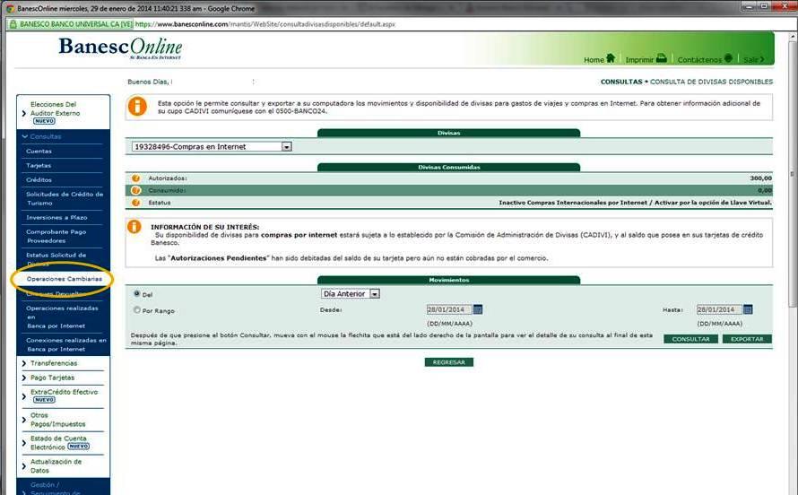 Banesco blog cupo electronico 2014 2 blog banesco for Banesco online consulta de saldo cuenta de ahorro