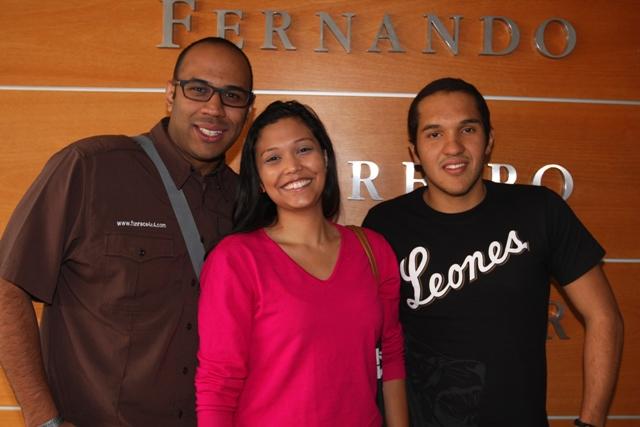 Ricardo Ortiz, Alexandra Fernández y Héctor Bueno