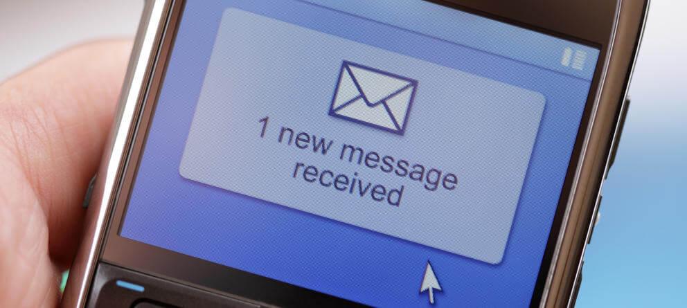 sms, mensaje de texto, emails