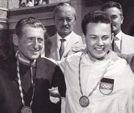 Enrico Forcella  medalla de bronce en tiro con rifle