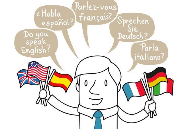 Geschäftsmann, Multilingual, Deutsch, Englisch, Spanisch...